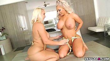Sexy big tit lesbians Sexy brandi bae and nina kayy first lesbian anal experience