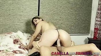 Sexy shemale fucks a big booty babe
