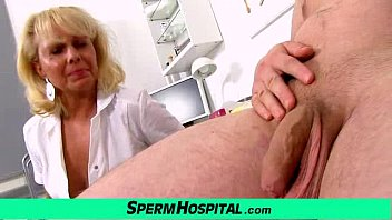 A boy gets handjob healthcare from dirty milf doctor Koko