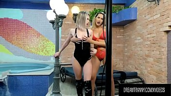 Stunning Tgirls Barbara Perez and Bella Atrix Suck and Ass Fuck Each Other