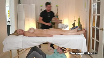 Busty Milf Bouncing On Masseurs Oily Cock 6 Min