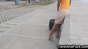 Upskirt amateur flight attendants Traveler fucks a filipina flight attendant