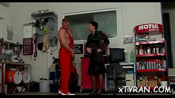 Angelic minx Celine Noiret gets doggstyle sex