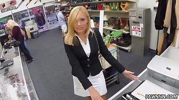Blonde MILF Banged in the PawnShop - XXX Pawn