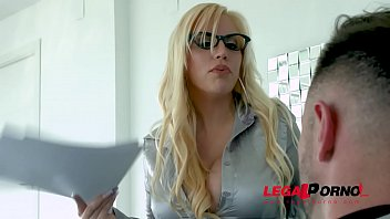 Big Titty Blonde in Glasses gets Real Hardcore Sex from a Stud GP003