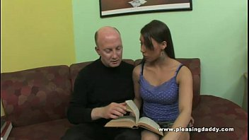 Sexy young slut blows her mature tutor