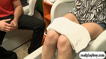 Tight blond pursuaded to fuck for money