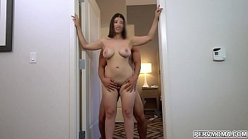 Midnight fetish forplay Big tits latina mom lets stepson fuck her tight milf pussy and he cums all over her ass