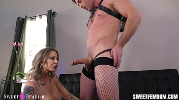 Madeline Marlowe Makes Lance Eat His Own Cum From Her Pussy