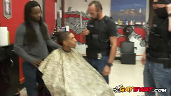 Suspect at barbershop is subjected and fucked hard by cops