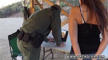 First time anal fisting Brunette gets pulled over for a cavity search