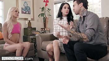 Perv Couple Joanna Angel & Small Hands Fuck the Babysitter!