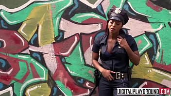 Homeless chick gets fucked by ebony cop - DigitalPlayground