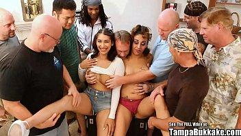 Oreo Tits VS Latina Tits Gangbang Choke Fest!