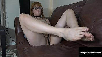 She gives you jerk off instructions Red penny pax gives jerk off instructions showing her feet