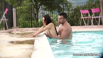 Adult vacation in santa domingus Fucking like romantics in the pool