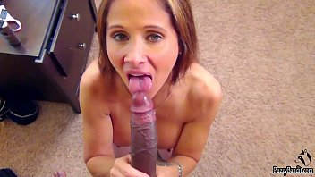 HOT WIFE EATS CUM. 11 INCH DICK