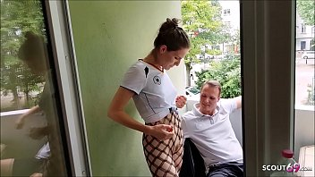REAL AMATEUR MMF THREESOME FOR SKINNY TEEN FELICE GERMAN