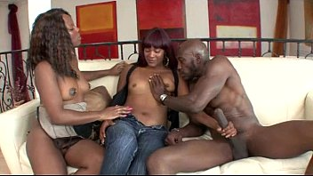Two black beauties banged by a monster