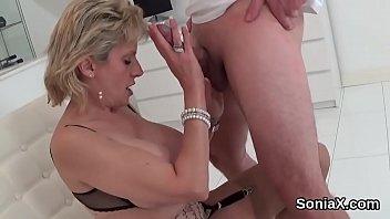 Unfaithful british mature gill ellis showcases her oversized titties