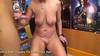 Mature Cougar Bangs Young Man In Video Store blonde mature granny