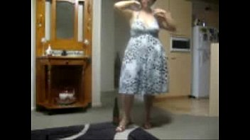 Horny amateur granny playing with bottle