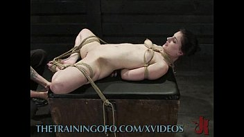 Slut in bondage ropes