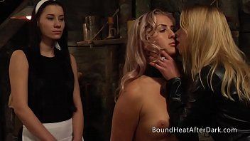 Lesbian Slave With Collar Around Her Neck Punished By Mistress