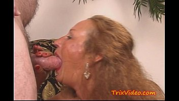 Trailer park cunts - My slutty granny gets a dp