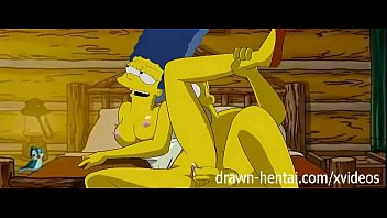 Black sexy drawings Simpsons hentai - cabin of love