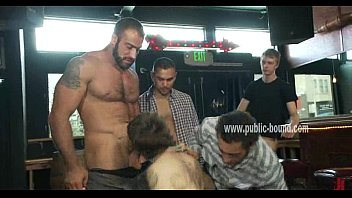 An Italian Gay Outdoor Gangbang