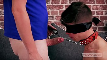 Twink foreskin Young submissive twink punished