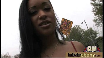 Ebony gets fucked in all holes by a group of white dudes 22 Thumb