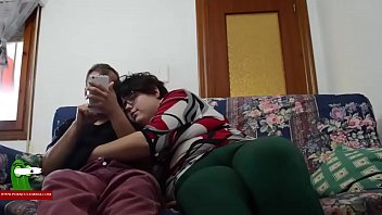 The fat girl and her boy having fun on the couch. SAN255 pornhub video