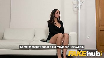 Fake Agent Spunk loving tattooed Spanish babe Claudia Bavel in sex casting