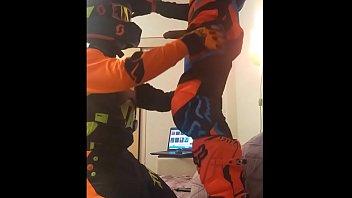 Homosexual and motocross Gay motocross blowjob