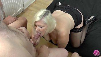 Granny does strip tease - Laceystarr - cum queen