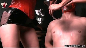 Is dominatrix sex Kinky dude is sex slave to weird