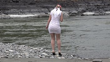 Porn pantyhose public - Juicy ass and slender legs under a short narrow dress outdoors in a public place. russian beauty exposes her intimate places while walking along the riverbank.
