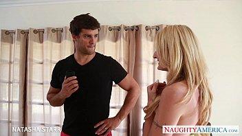 Busty blonde Natasha Star fucks a giant cock