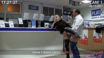 Men condom Visit-x blondie bezahlt reparaturrechnung mit doppelfick fmm