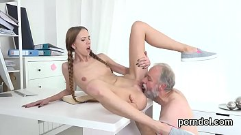 Banged in the vagina Innocent schoolgirl gets teased and banged by older instructor