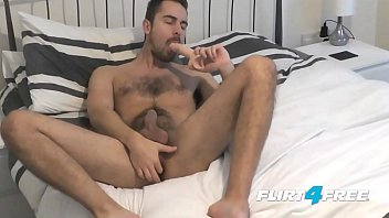 Gay guy hairy Bearded flirt4free hunk antonio west blows a big load on his hairy abs