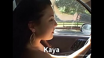 Handjob and masturbating in the car
