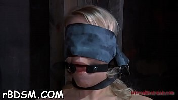 Chick is tortured with shocking sex-toys and ju...