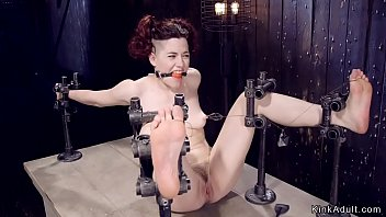 Redhead slave Ingrid Mouth in device bondage