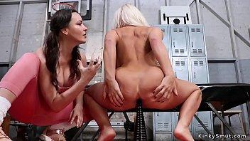 Lesbian Coach Anal Fists Blonde Milf