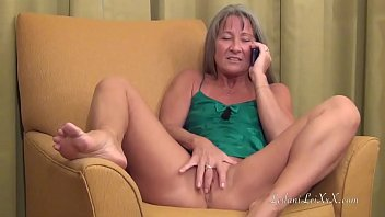 Phone sex grannie Milf dirty talks on the phone with lover