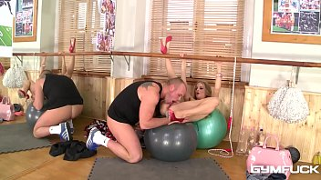 Gym fuck Hungarian slut Cayenne Klein's tight pussy hammered in spoon style