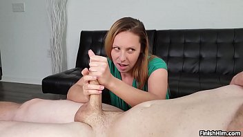 HANDJOB TEASING - I made him CUM crazy HARD